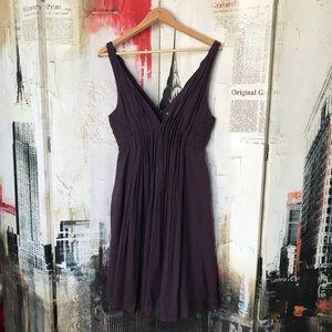 Foley + Corinna Cotton Deep V Neck Dress